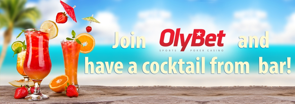 Join OlyBet and have a cocktail from Olybet Sports bar!